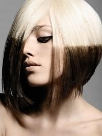 чёрно белое окрашивание волос фото