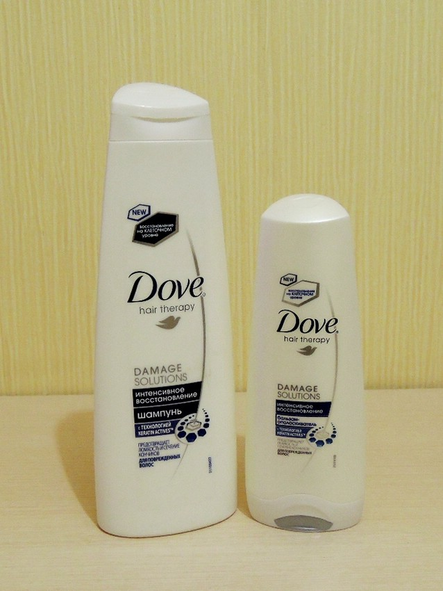 Шампунь Dove Hair Therapy Интенсивное восстановление