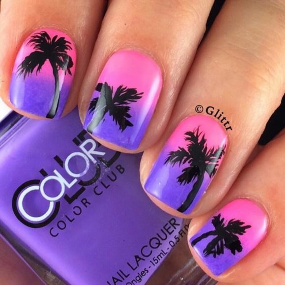 пальмы фото на ногтях
