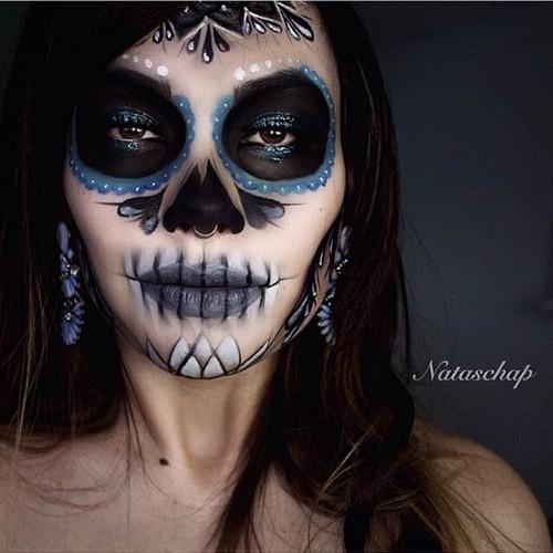 Сексуальный макияж на хэллоуин для девушки