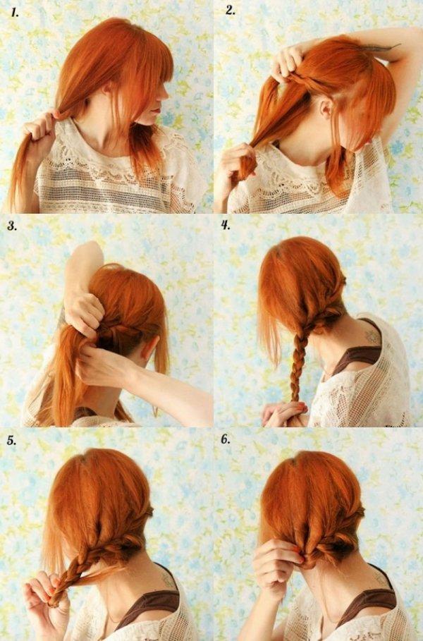 Как сделать прическу на короткие волосы легко