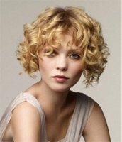 Короткие прически для вьющихся волос 2010