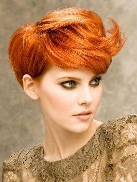 Яркий оранжевый цвет волос