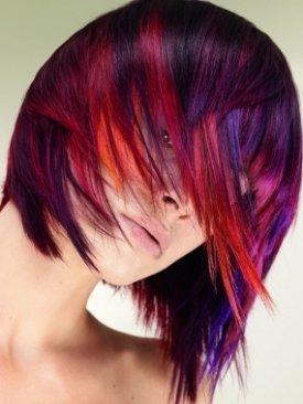 Многоцветное окрашивание волос