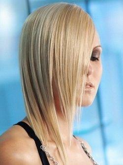 Прически на длинные волосы: слои с резкими линиями