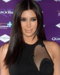 Длинная густая прическа Ким Кардашьян