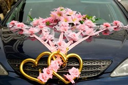 Оформление автомобилей на свадьбу