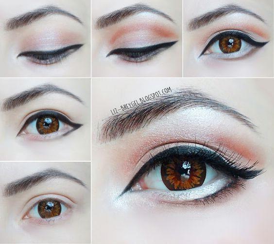 макияж для маленьких глаз