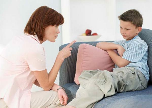 Воспитание ребенка и наказания